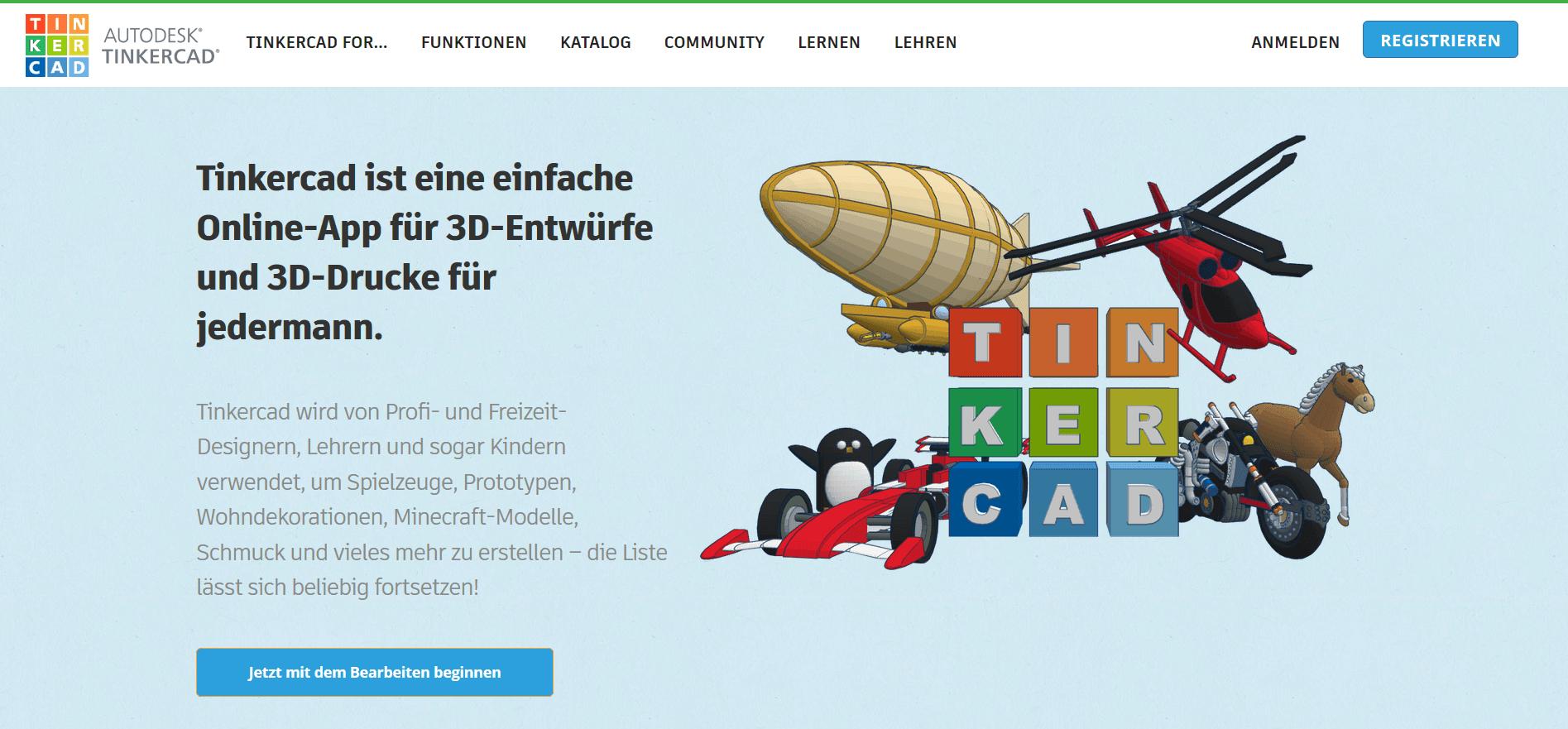 Gute 3D Drucker Software online