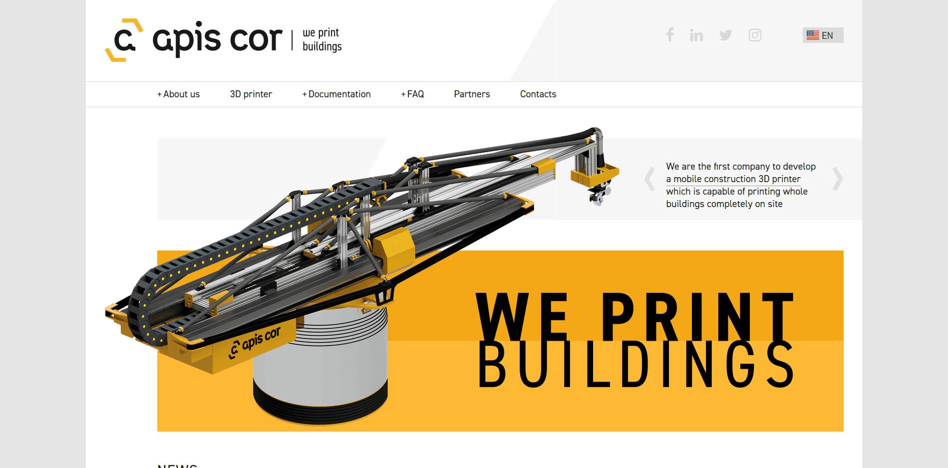 Mehr zum Apis Cor Logo auf 3D Drucker kaufen.info