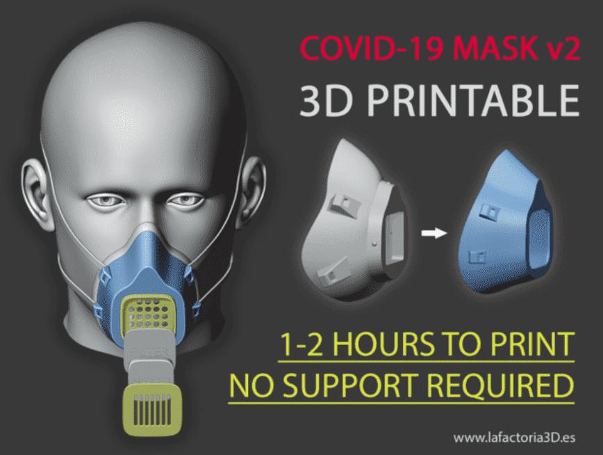 Die Atemschutzmaske aus dem 3D Drucker