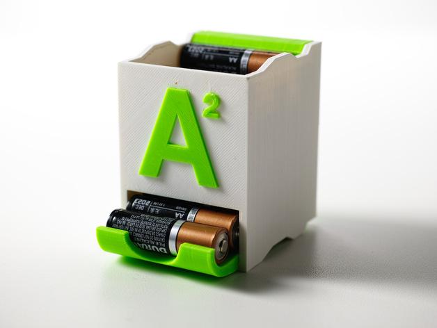 Die 3D Drucker Idee Batterieaufbewahrer bietet Platz für verschiedene Batterien