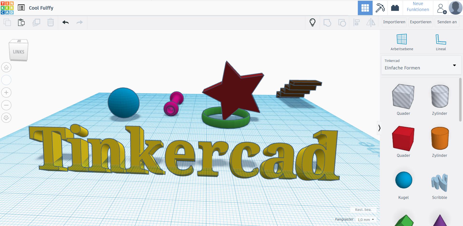 Tinkercad ist ein beliebtes CAD Programm