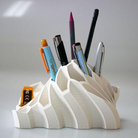 Die 3D Drucker Idee Stifthalter überzeugt mit dem Eisberg Design