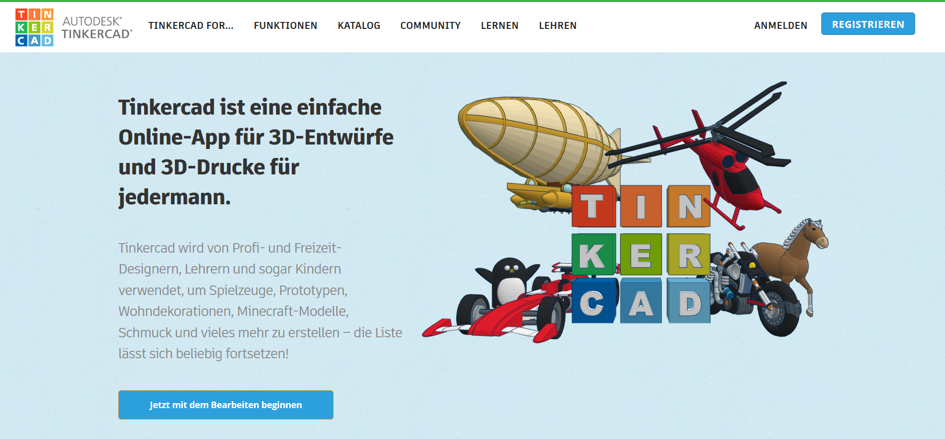 Die 3D Drucker Software Tinkercad vorgestellt