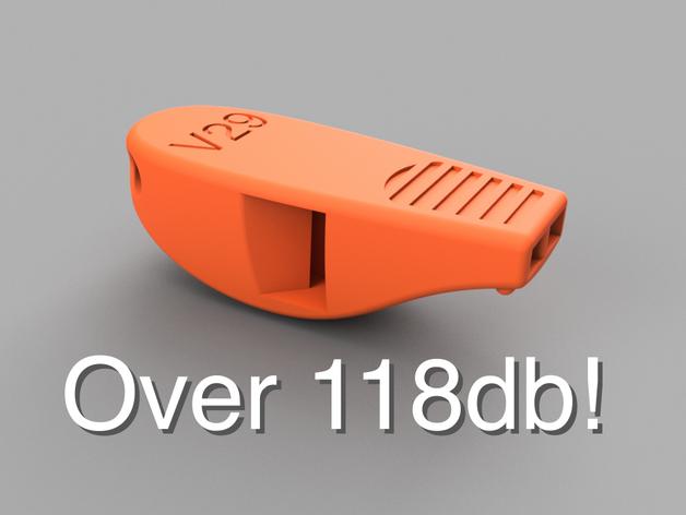 Vom 3D Drucker gedruckte Trillerpfeife
