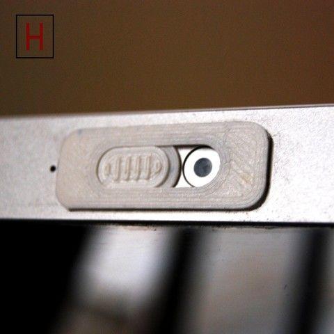 Die Webcamklappe schützt vor dem Ausspähen