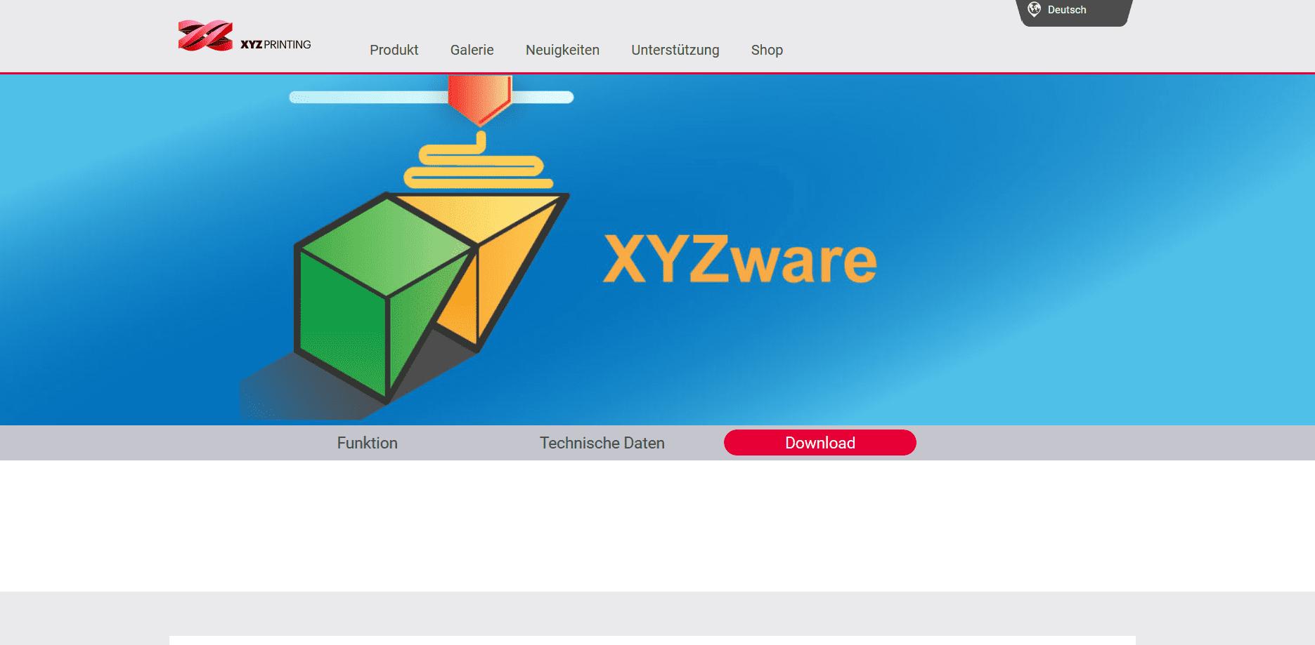 Startseite von XYZ Ware